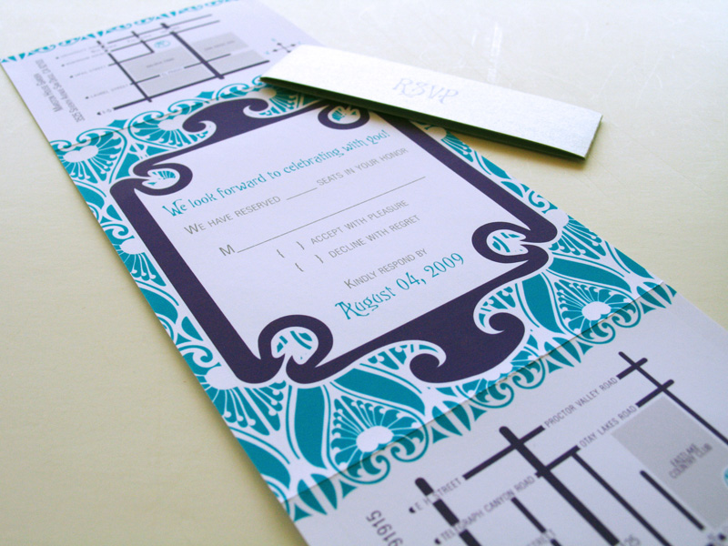 Art Nouveauinspired Wedding Invitation in Collaboration with LizzyB Loves